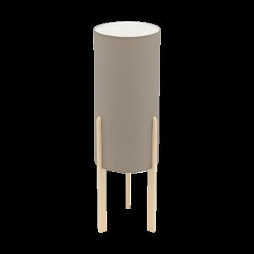 Настольная лампа Eglo Compodino 97894, 1xE27x60W, коричневый, серый, дерево, текстиль