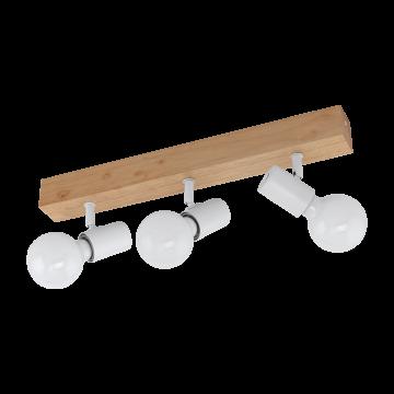 Потолочный светильник с регулировкой направления света Eglo Townshend 3 33171, 3xE27x60W, коричневый, дерево