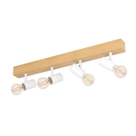 Потолочный светильник с регулировкой направления света Eglo Townshend 3 33172, 4xE27x60W, коричневый, дерево