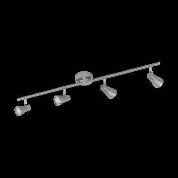 Потолочный светодиодный светильник с регулировкой направления света Eglo Tiberio 97826, LED 12W, 3000K (теплый), никель, хром, металл, пластик