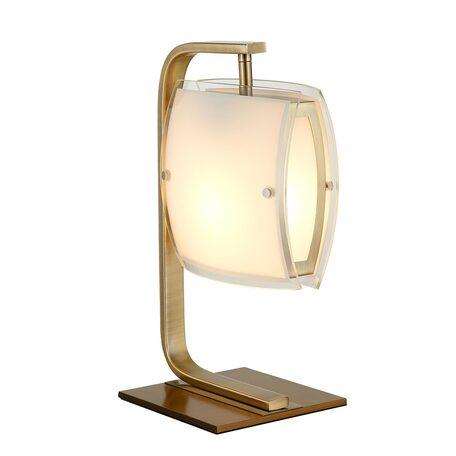 Настольная лампа Citilux Берген CL161813, 1xE27x75W, бронза, белый, металл, стекло