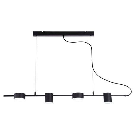 Подвесной светодиодный светильник Lussole Loft Pickwick LSP-8152, IP21, LED 32W 3000K, черный, металл