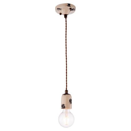 Подвесной светильник Lussole Loft Vermilion LSP-8159, IP21, 1xE27x60W, бежевый, металл