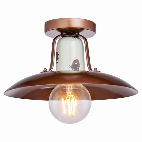 Потолочный светильник Lussole Loft Vermilion LSP-8162, IP21, 1xE27x60W, серый, коричневый, металл