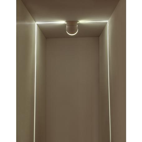 Настенный светодиодный светильник Odeon Light Hightech Arrow 3917/9CL, IP65, LED 9W 4000K 450lm, белый, металл