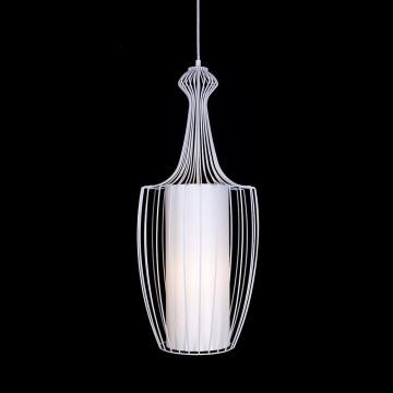 Подвесной светильник Nowodvorski Luksor Plus 8848, 1xE27x40W, белый, металл
