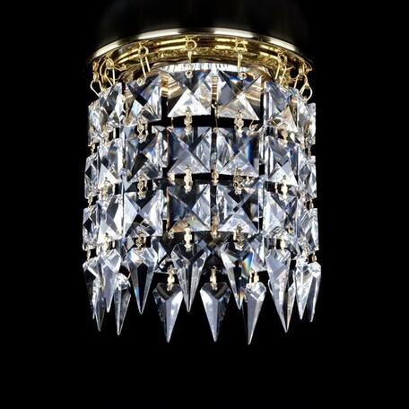 Встраиваемый светильник Artglass SPOT 12 CE SALE, 1xGU10x35W, золото, прозрачный с золотом, прозрачный, металл, хрусталь Artglass Crystal Exclusive