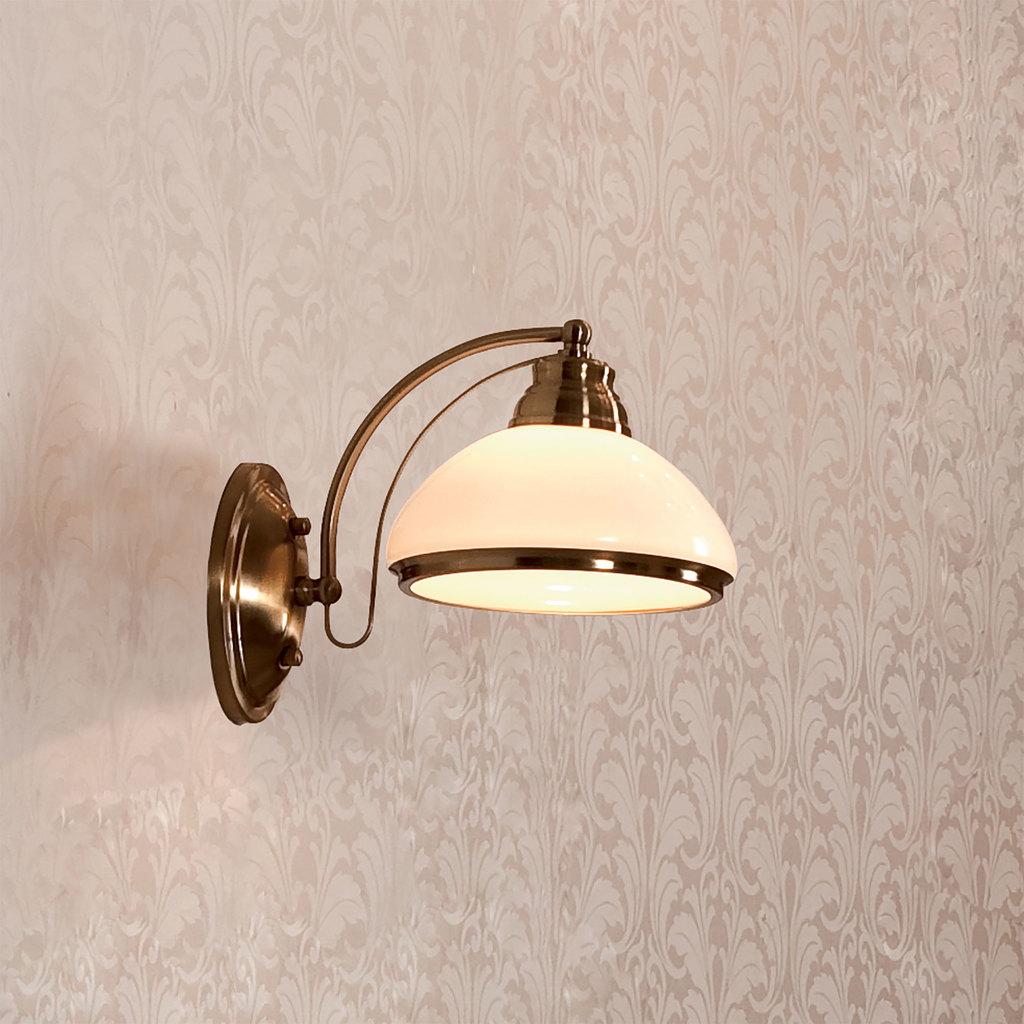 Бра Citilux Краков CL401313, 1xE27x75W, бронза, белый, металл, стекло - фото 1