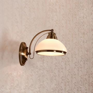 Бра Citilux Краков CL401313, 1xE27x75W, бронза, белый, металл, стекло - миниатюра 2