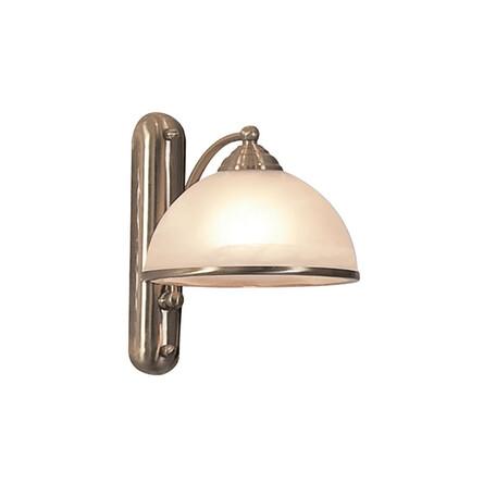 Бра Citilux Лугано CL403313, 1xE27x75W, бронза, белый, металл, стекло