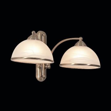 Бра Citilux Лугано CL403323, 2xE27x75W, бронза, белый, металл, стекло - миниатюра 2