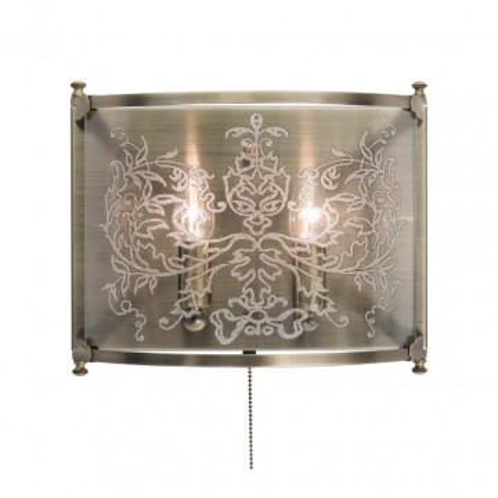 Бра Citilux Версаль CL408323, 2xE14x60W, бронза, прозрачный, металл, стекло