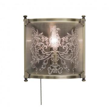 Настенный светильник Citilux Версаль CL408313, 1xE14x60W, бронза, прозрачный, металл, стекло