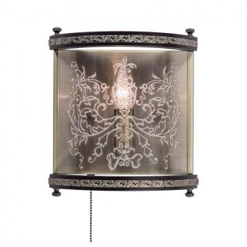 Бра Citilux Версаль Венге CL408313R, 1xE14x60W, бронза, венге, прозрачный, металл, дерево, стекло