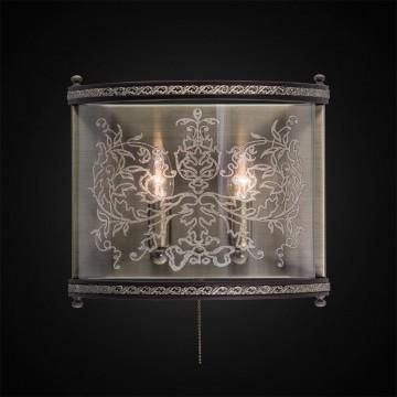 Бра Citilux Версаль Венге CL408323R, 2xE14x60W, бронза, венге, прозрачный, металл, дерево, стекло - миниатюра 2