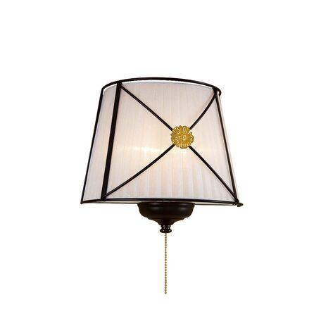 Настенный светильник Citilux Дрезден CL409322, 2xE14x40W, венге, металл, текстиль