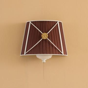 Настенный светильник Citilux Дрезден CL409323, 2xE14x40W, белый, коричневый, металл, текстиль