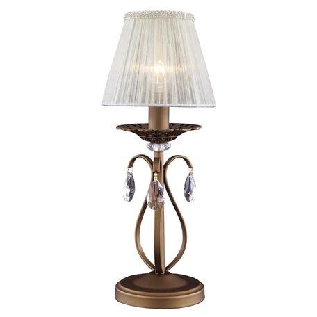 Основание настольной лампы Citilux Марлен CL411811, 1xE14x60W, коричневый, белый, прозрачный, металл, текстиль, хрусталь