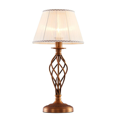 Настольная лампа Citilux Ровена CL427811, 1xE27x75W, бронза, бежевый, металл, текстиль