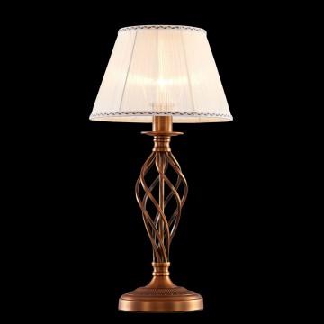 Настольная лампа Citilux Ровена CL427811, 1xE27x75W, бронза, бежевый, металл, текстиль - миниатюра 2