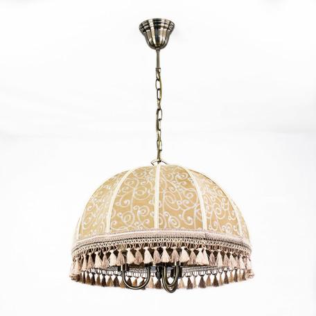 Подвесная люстра Citilux Базель CL407135, 3xE14x60W, бронза, коричневый, металл, текстиль