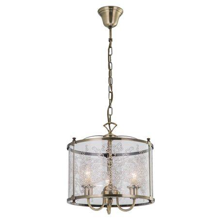Подвесная люстра Citilux Версаль CL408133, 3xE14x60W, бронза, прозрачный, металл, стекло