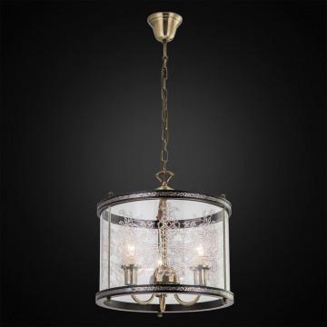 Подвесная люстра Citilux Версаль Венге CL408133R, 3xE14x60W, бронза, венге, прозрачный, металл, дерево, стекло - миниатюра 2