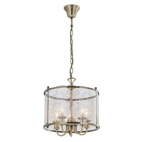 Подвесная люстра Citilux Версаль CL408153, 5xE14x60W, бронза, прозрачный, металл, стекло
