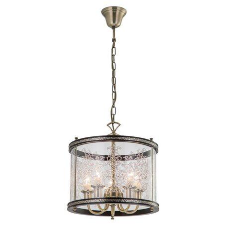 Подвесная люстра Citilux Версаль Венге CL408153R, 5xE14x60W, бронза, венге, прозрачный, металл, дерево, стекло