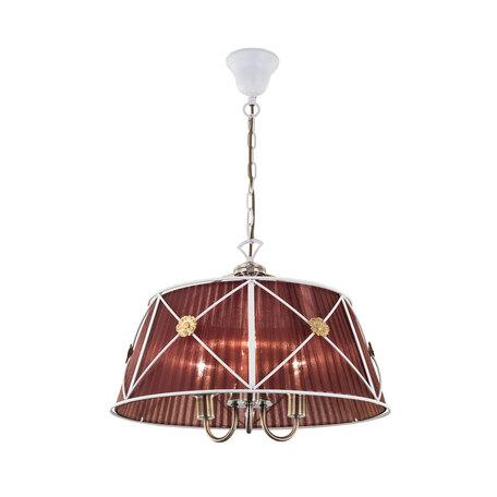 Подвесная люстра Citilux Дрезден CL409133, 3xE14x60W, белый, коричневый, металл, текстиль