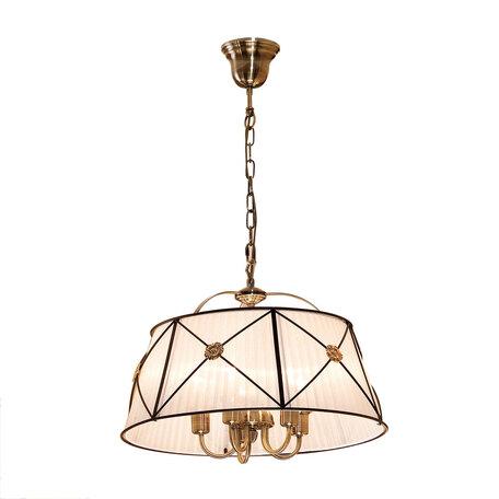 Подвесная люстра Citilux Дрезден CL409152, 5xE14x60W, бронза, венге, металл, текстиль