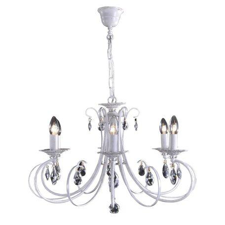 Основание подвесной люстры Citilux Джесси CL410162, 6xE14x60W, белый с золотой патиной, прозрачный, металл, хрусталь