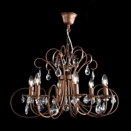 Основание подвесной люстры Citilux Марлен CL411161, 6xE14x60W, коричневый, прозрачный, металл, хрусталь