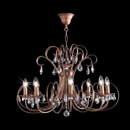 Основание подвесной люстры Citilux Марлен CL411181, 8xE14x60W, коричневый, прозрачный, металл, хрусталь