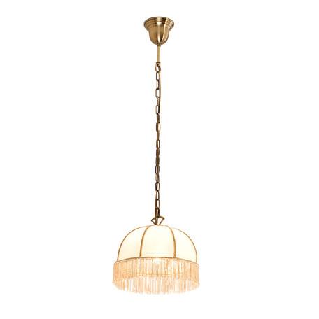 Подвесной светильник Citilux Базель CL407111, 1xE27x60W, бронза, бежевый, металл, текстиль