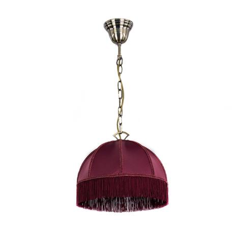 Подвесной светильник Citilux Базель CL407113, 1xE27x60W, бронза, красный, металл, текстиль