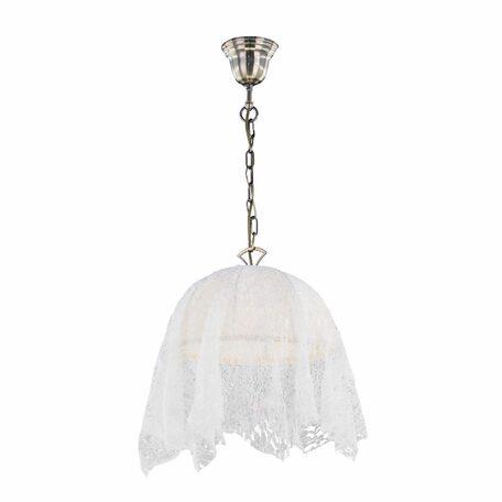 Подвесной светильник Citilux Базель CL407114, 1xE27x60W, бронза, бежевый, металл, текстиль