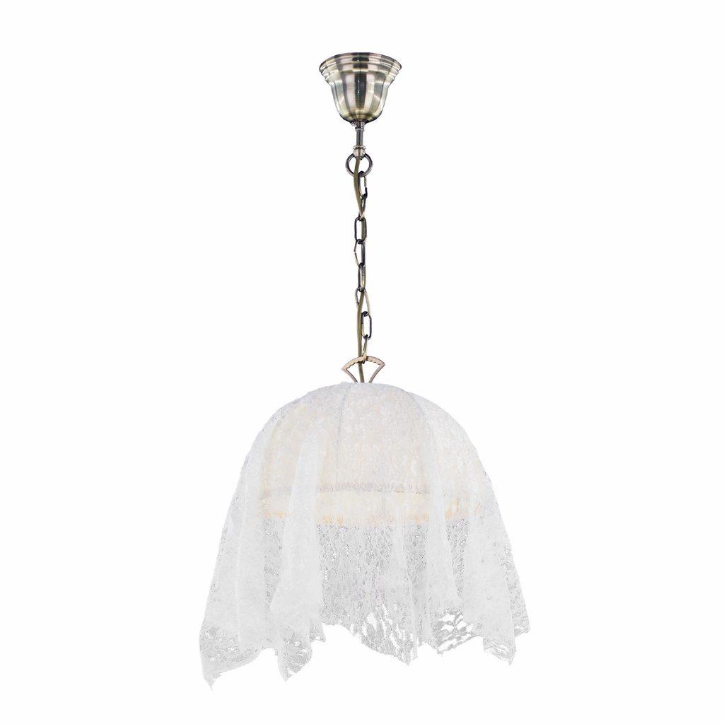 Подвесной светильник Citilux Базель CL407114, 1xE27x60W, бронза, бежевый, металл, текстиль - фото 1