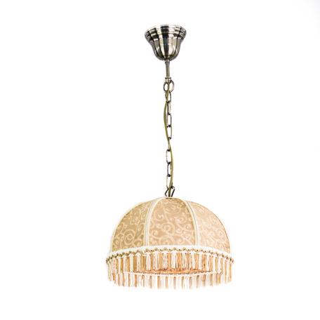 Подвесной светильник Citilux Базель CL407115, 1xE27x60W, бронза, коричневый, металл, текстиль