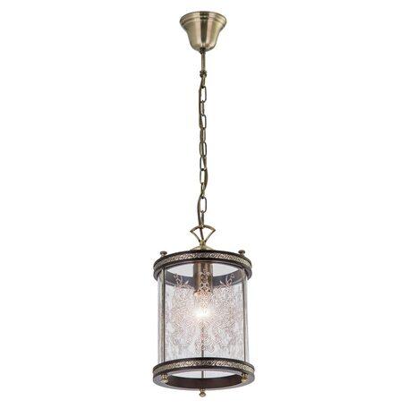 Подвесной светильник Citilux Версаль Венге CL408113R, 1xE27x75W, бронза, венге, прозрачный, металл, дерево, стекло