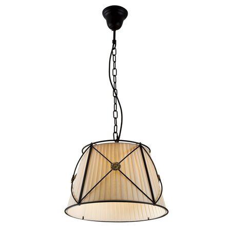 Подвесной светильник Citilux Дрезден CL409111, 1xE27x100W, венге, бежевый, металл, текстиль