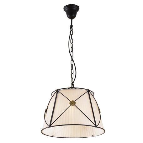 Подвесной светильник Citilux Дрезден CL409112, 1xE27x100W, венге, металл, текстиль