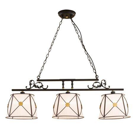 Подвесной светильник Citilux Дрезден CL409234, 3xE27x60W, венге, металл, текстиль