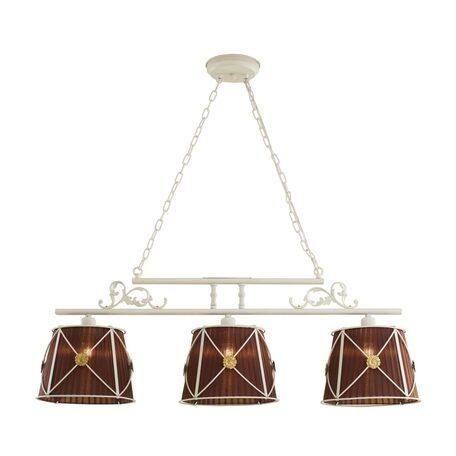 Подвесной светильник Citilux Дрезден CL409236, 3xE27x60W, белый, коричневый, металл, текстиль