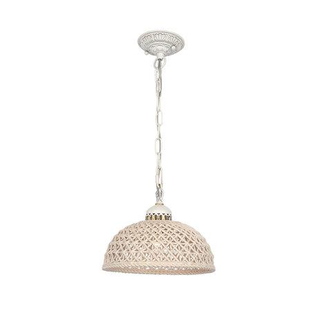 Подвесной светильник Citilux Трензадо CL415111, 1xE27x75W, белый, бежевый, металл, керамика - миниатюра 1