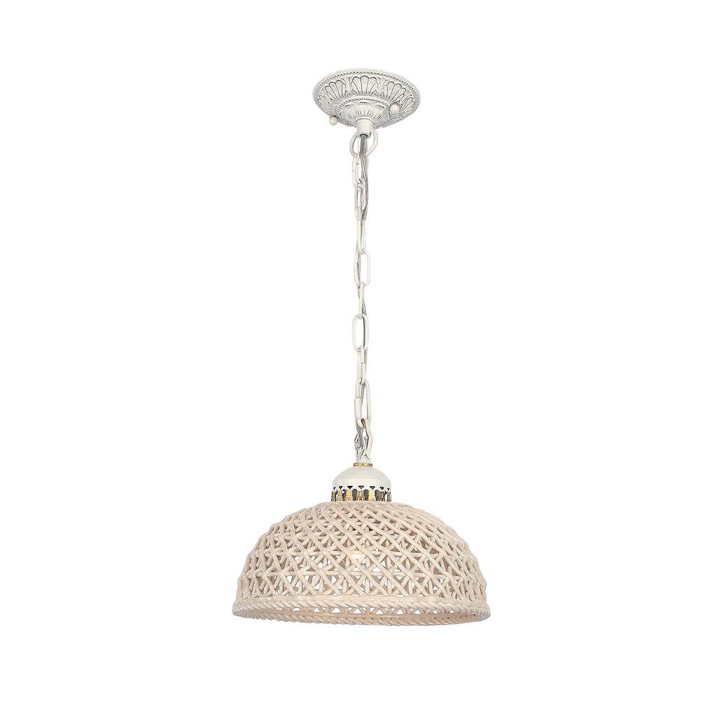 Подвесной светильник Citilux Трензадо CL415111, 1xE27x75W, белый, бежевый, металл, керамика - фото 1