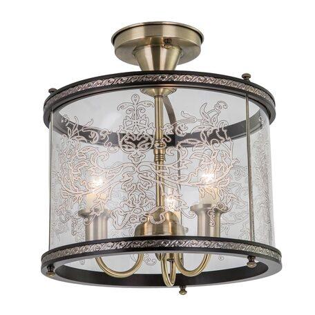 Потолочная люстра Citilux Версаль Венге CL408233R, 3xE14x60W, бронза, венге, прозрачный, металл, дерево, стекло