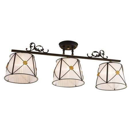 Потолочный светильник Citilux Дрезден CL409232, 3xE27x60W, венге, металл, текстиль