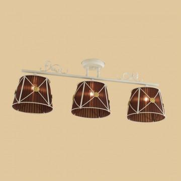 Потолочный светильник Citilux Дрезден CL409235, 3xE27x60W, белый, коричневый, металл, текстиль - миниатюра 3