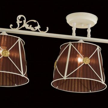 Потолочный светильник Citilux Дрезден CL409235, 3xE27x60W, белый, коричневый, металл, текстиль - миниатюра 4